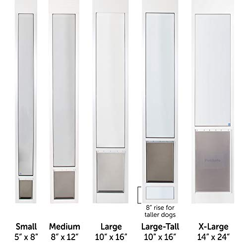 PetSafe Freedom Aluminum Patio Panel Sliding Glass Dog and Cat Door, Adjustable 91 7/16'' to 96-Inch, White, Large-Tall by PetSafe (Image #5)