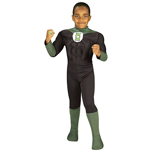 Deluxe Muscle Chest Green Lantern Costume Set - Toddler (Green Lantern Toddler Costume)