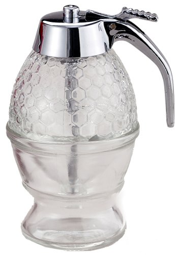 Syrup Dispenser Honey - Mrs. Anderson's Baking Syrup Honey Dispenser, Glass with Storage Stand, 8-Ounce Capacity