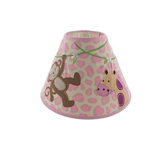 Giraffe Lamp Infant (Koala Baby Applique Monkey/Giraffe Nursery Lamp Shade Pink)