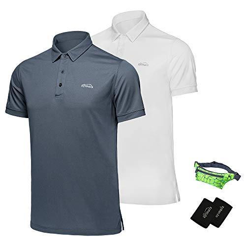 4d39ff05a1565 LIFINAIS Men s Polo Shirts Performance Golf Polo Tech Dri-Fit Short ...