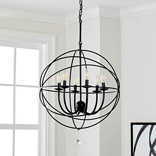Safavieh Lighting Collection Evie 22 Adjustable Chandelier, Black