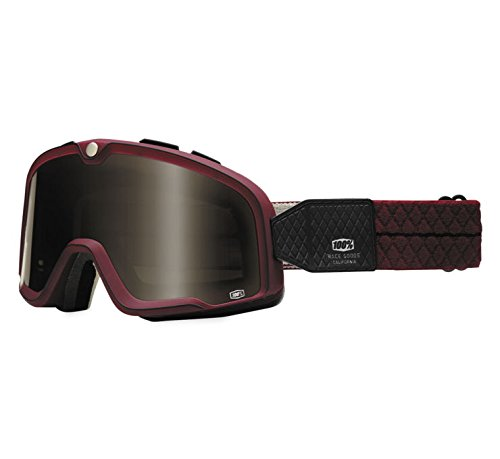 100% Barstow Goggles - Burgundy with Bronze Lens by 4into1