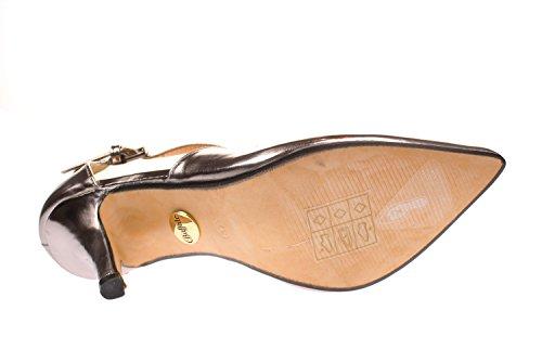 Buffalo Ladies 315349 Metallizzato Pu Strappy Pumps Argento (peltro 01)