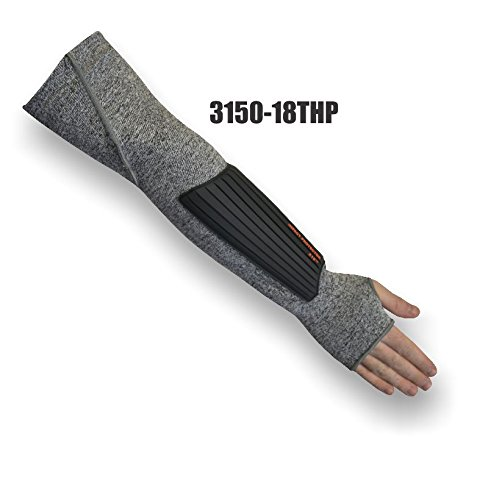 (24 Each) Majestic 18 INCH 1 PLY DYNEEMA SLEEVE WITH GUSSET, PAD & THUMB HOLE - 18 INCH(3150-18THP)