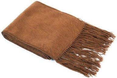Alpaca Wool Classic Scarf Made in Peru Fair Trade Camel 72