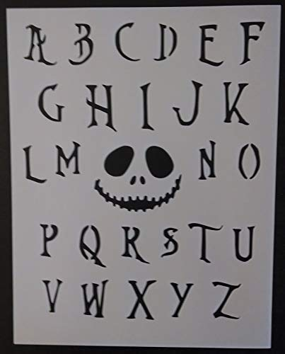 OutletBestSelling Reusable Sturdy Nightmare Before Christmas Font Alphabet 8.5