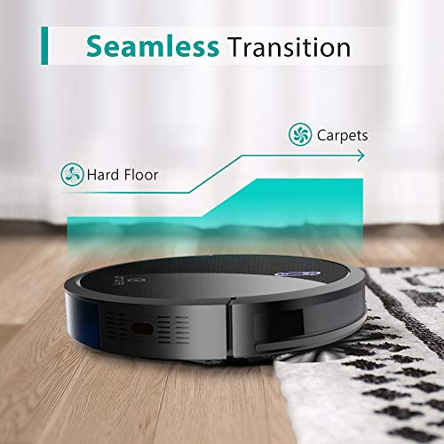 Amarey A800 Robot Vacuum, 1400PA Super Suction, 2.7inch Super Thin, 100mins Long Lasting,Self-Charging, Timing Function, Multiple Cleaning Modes, Best Robot Vacuums for Pet Hair, Hard Floor, Carpet
