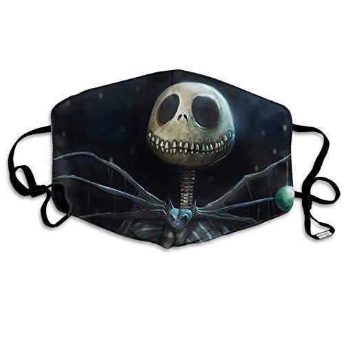 Mouth Mask Jack Skellington Anti-dust Polyester Face Mask Unisex Germs Bacteria Virus Smog Nose Elastic Strap