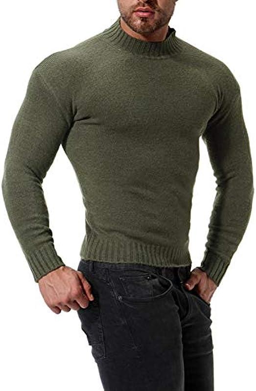 Sweater Męskie Solid Color Casual Męskiepullover: Küche & Haushalt