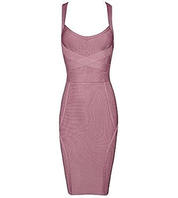 Beateen Women's Deep V Bandage Spaghetti Strap Dress BT14204