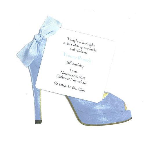 High Heel (Light Blue) Shoe Die-cut Card, Pack of 10