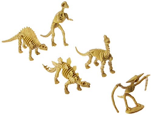 US Toy - Assorted Dinosaur Skeleton Toy Figures, Made of Plastic, (4-Pack of 12)