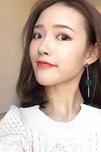 Freshness Straight Stick Star Necklace Pendant Earrings earings Dangler Eardrop Everyday Women Gift Long Tassel Among Forest