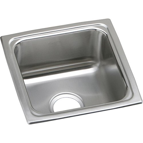 Elkay Lustertone LFR1515 Single Bowl Top Mount Stainless Steel Bar Sink (Elkay Lustertone Bar Sinks)
