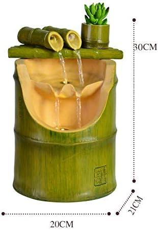 Table fountain-LGRMBBCY 220 v-110 V r/ésine Rockery Cycle de leau Source LED Lumi/ère Bureau Bureau Micro-Paysage Feng Shui Chanceux Home Decoration Cadeaux daffaires,D