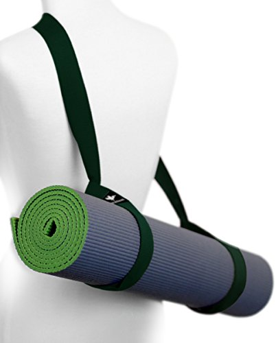 - Pelikus Yoga Mat Sling Carry Strap – Adjustable, Durable, Cotton (Deep Forest)