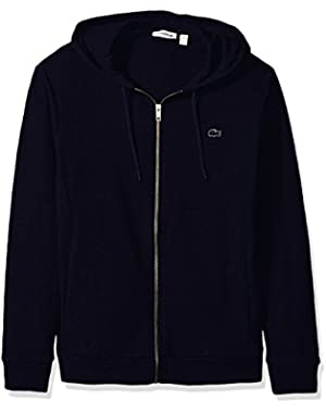 Men's Slubby Lightweight Fleece Full Zip Sweater