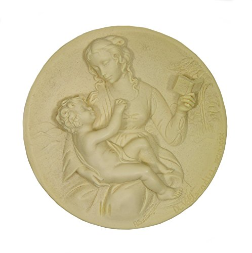 Bradford Exchange The Serene Madonna by A. Santangela Handcrafted Solid Ivory Alabaster Plate (1979)