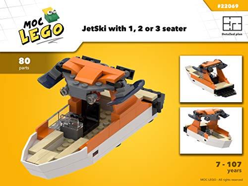 WakeBoard Boat (Instruction Only): MOC LEGO