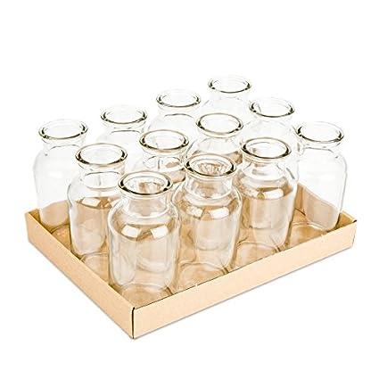 NADECO frascos de farmacia 12 unidades aprox. 16 x 8 cm | frascos de farmacia | Cristal biberones | Deko botellas ...