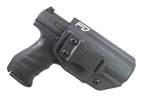 Fierce Defender IWB Kydex Holster Walther PPQ The Winter Warrior Series -Made in USA- Fits M1 and M2 (Black)