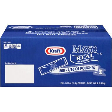 Kraft Mayo Packets (.44 fl. oz. packets, 200 ct.)