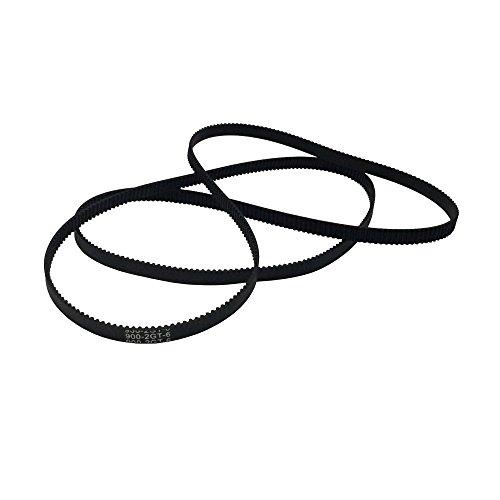 Discount BEMONOC Pack of 2pcs GT2 Driver Belt 900-2GT-6 Timing Belt in Closed Loop Rubber L=900mm W=6mm 450 Teeth for sale