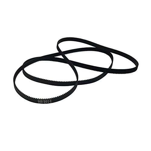 BEMONOC Pack of 2pcs GT2 Driver Belt 900-2GT-6 Timing Belt in Closed Loop Rubber L=900mm W=6mm 450 Teeth