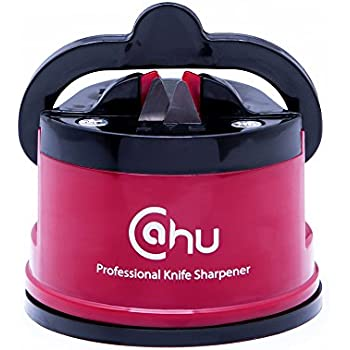 Profestional Knife Sharpener With Suction Pad For All Types Of Knives: Kitchen Knife, Chop Vegetables, Grinder Blade... Eco Friendly Knife Sharpening Quick And Easy To Use Made By CAHU