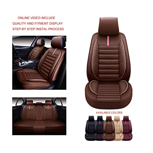 OASIS AUTO OS-001 Leather Universal Car Seat Covers Automotive Vehicle