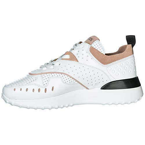 Femme Baskets Blanc En Cuir Tod's Sneakers Chaussures qtnwx5RBPY
