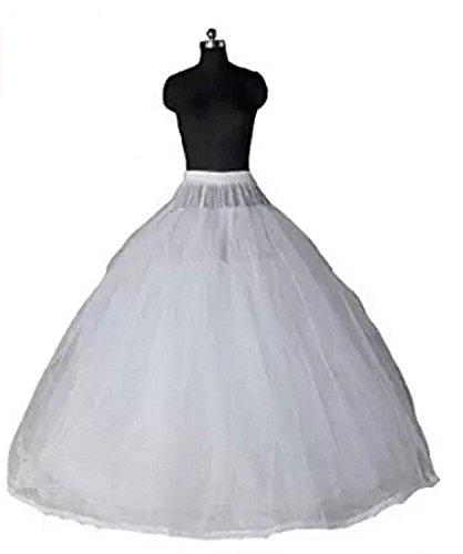 FASHION DRESS Bridal Crinoline Petticoat For Ball Gown Wedding Dress (white) by FASHION DRESS