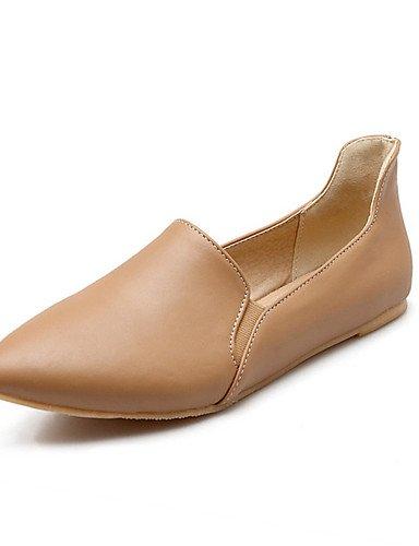 oficina us6 plano amarillo PDX negro y Flats de Casual atlético Toe mujer uk4 beige Beige talón cn36 de zapatos carrera charol eu36 punta YwSqwgvH