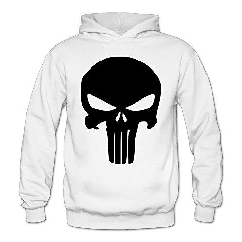 MARC Women's The Punisher Skull Sweatshirt White Size M