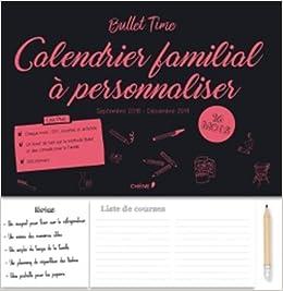 Calendrier Personnaliser.Amazon Fr Calendrier Familial A Personnaliser Sept 2018