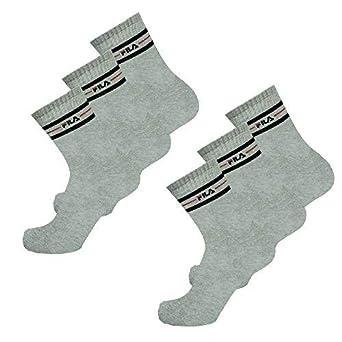 Fila Calcetines 6 Pares Calcetines de Deporte, Monocromo, de Rayas, Unisex, (2x 3er Pack) Mujer o Hombre - Elección de Color: Amazon.es: Ropa y accesorios