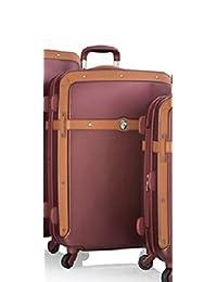 "Heys Heritage Burgundy 26"" Spinner Luggage, 100% Polycarbonate"