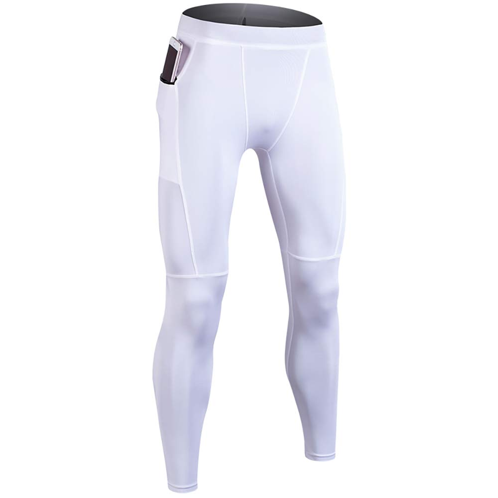 Running Pants Outdoor Training Pants Gym Training Yoga Basketball Hiking Leggings Stitching Color Mens Compression Pockets