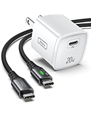 USB C Charger, INIU 20W PD 3.0 Fast Charge Wall Charger with 6FT Quick Charging Cable, Universal Power Adapter Compatible with iPhone 12 11 Pro XR X 8 Samsung S21 S20 iPad Airpods Google LG etc.