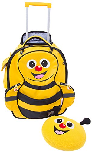 Cap Cuties & Pals 'Cazbi Bee' Kids Soft Rolling Upright Trolly