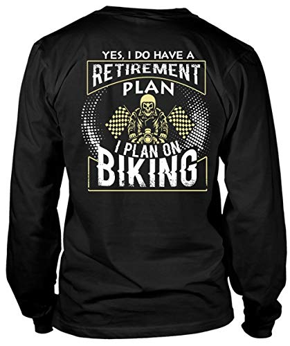Father-Yes I Do Have A Retirement Plan Long Sleeve Tees, I Plan On Biking T Shirt-LongTee (L, Black)]()