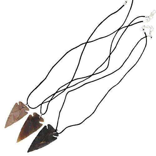 Native American Canowicake 3 Piece Arrowhead Necklace Set
