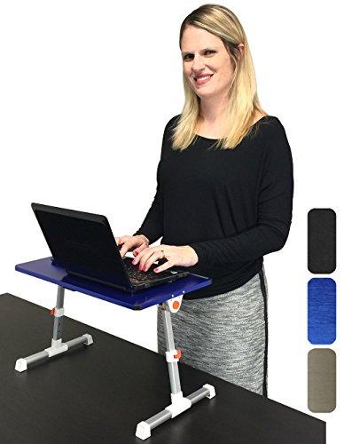 Stand Steady Traveler Folding Stand Up Desk, Blue