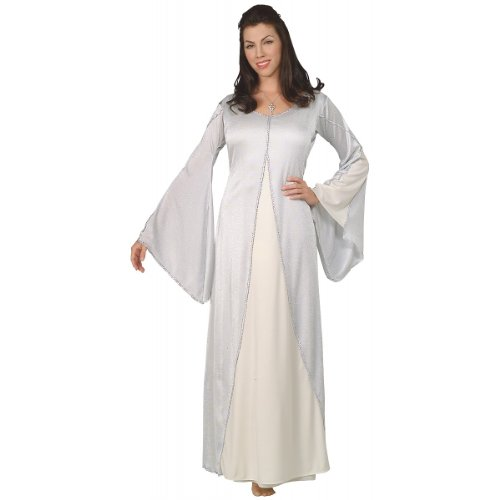 Arwen Dress Adult Costumes (Rubies The Lord of The Rings Arwen Costume Standard Size 10-12 White)