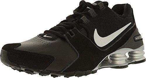 - NIKE Men's Shox Avenue Black/Metallic Silver Ankle-High Running Shoe - 8M