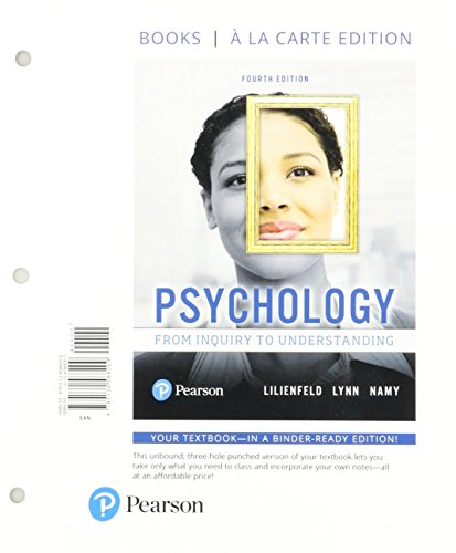 Psychology: From Inquiry to Understanding -- Books a la Carte (4th Edition)