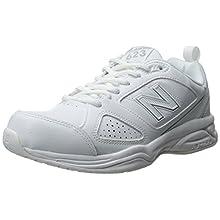 New Balance Women's WX623V3 Training Shoe, White/Silver, 6 B US