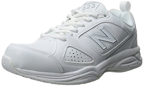 New Balance Women's WX623v3 Casual Comfort Training Shoe, White/Silver, 12 D US