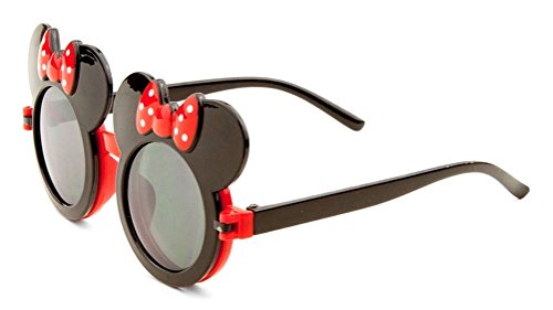 Kids Black & Red Mouse Ears Flip Out - Sunglasses Mickey